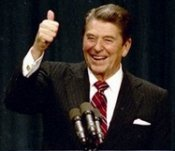 Thumbs up from Ronald Reagan