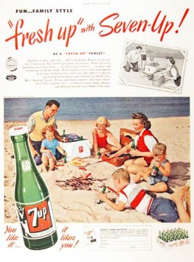 Old 7 UP ad